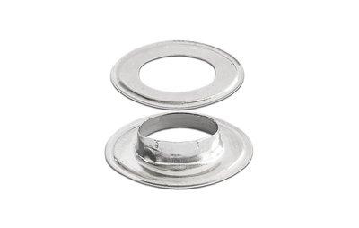 Tourniquet Ring Messing Vernikkeld 16x9 mm